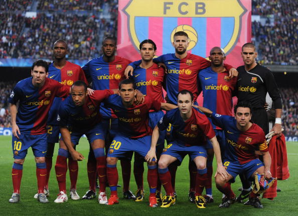barcelona team 2009. 28: Barcelona team line up